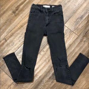 Bullhead Super High Rise Skinny Jeans Sz 0